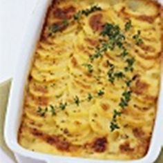 Potato Gratin with Leeks and Calamari