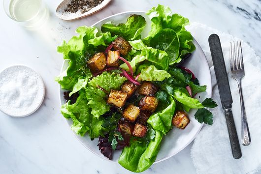Crispy, Herby Potato Croutons Are Your Salad's New Best Friend