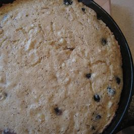 Corn Bacon Blueberry Skillet Cake