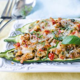 Stuffed Italian Zucchini Boats