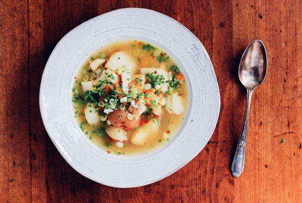 Summer Corn And Cod Chowder Recipe — Dishmaps