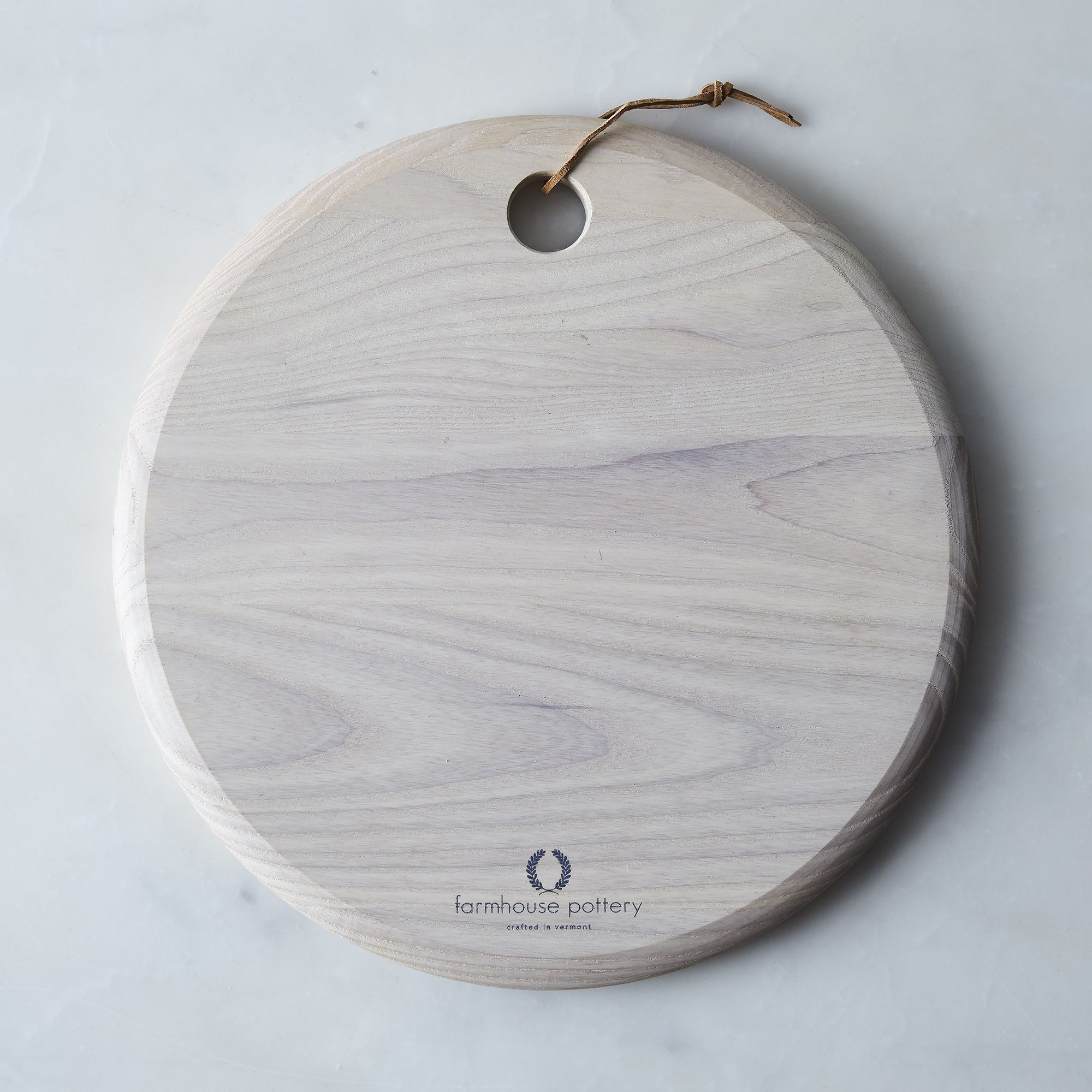 Handcrafted Wood Cheese Board White