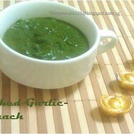 Mashed Garlicky spinach