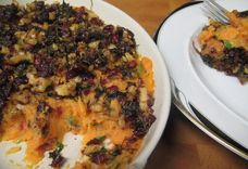 Spicy and Sweet Baked Mashed Sweet Potato