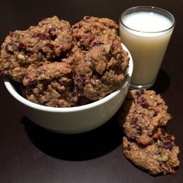 Chewy Orange Cranberry Oatmeal Cookies