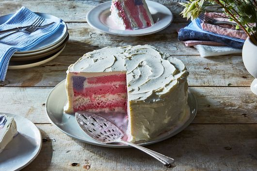 How To Make An (Ice Cream!) Flag Cake
