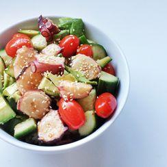 Japanese Spicy Octopus Salad (鮹サラダ - Tako Salad)