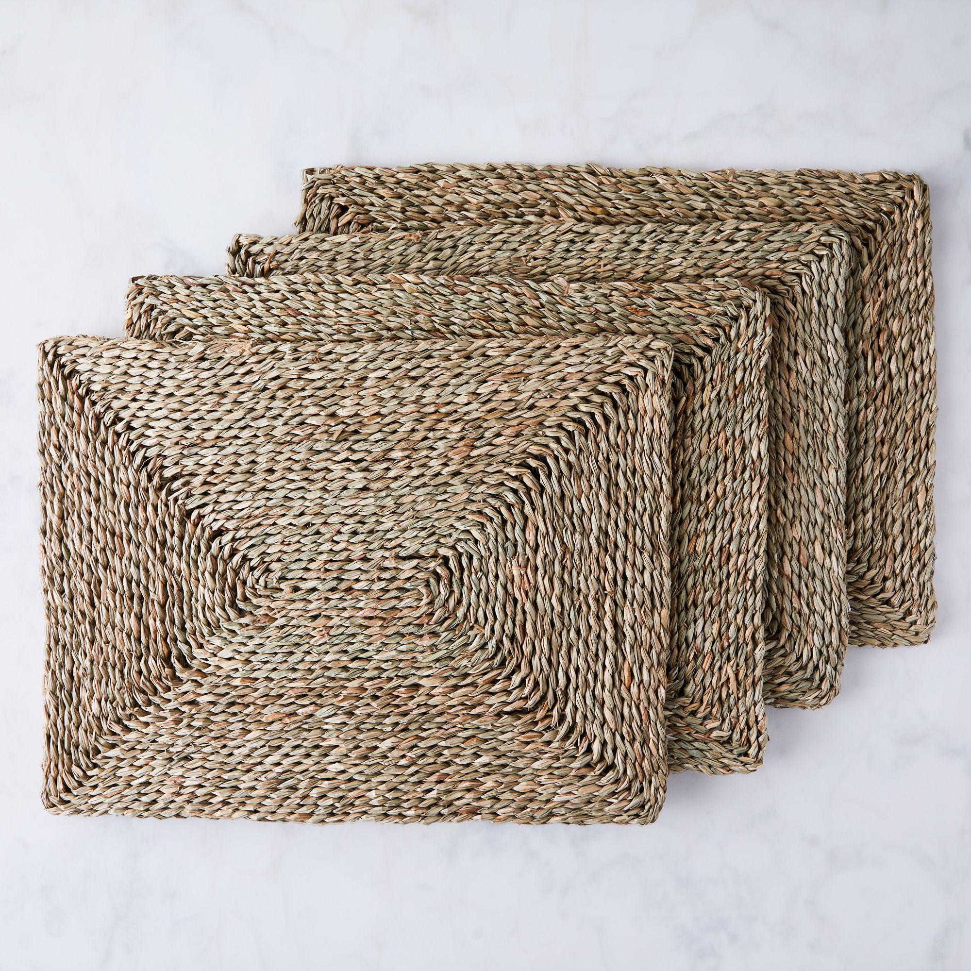 Blue Pheasant Woven Seagrass Placemat (Set of 4)  - Rectangular