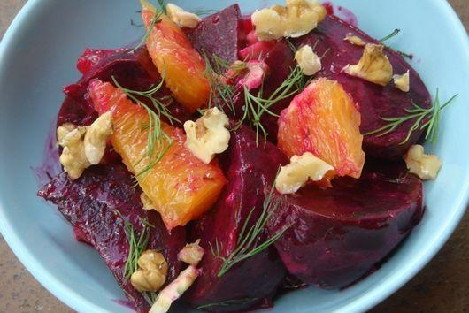 Roasted Beet & Orange Salad with Creamy Dill Vinaigrette