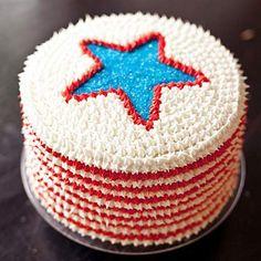 Best 4th of July Red, White and Blue Velvet Cake