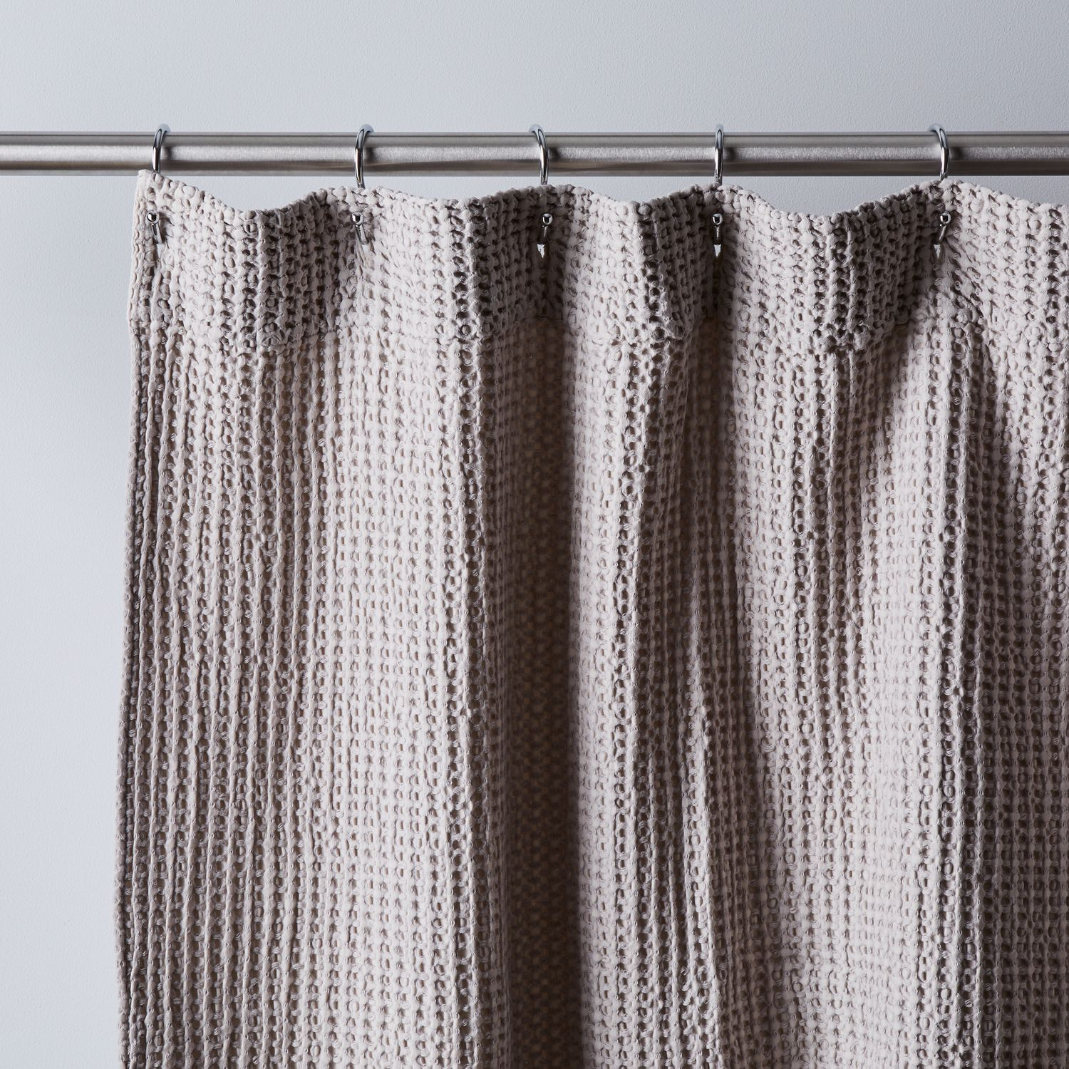 Simple Soft Cotton Waffle Shower Curtain