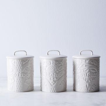 Mason Cash Forest Coffee, Sugar & Tea Canisters