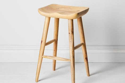 Wooden Counter and Bar Stools