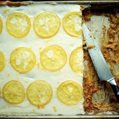 Candied Lemon Sheet Cake