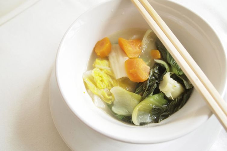 Clear veggies soup
