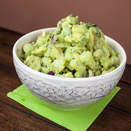 Roasted Jalapeno, Potatoes and Avocado Salad