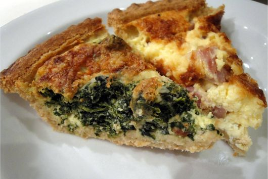 Spinach or Ham Quiche