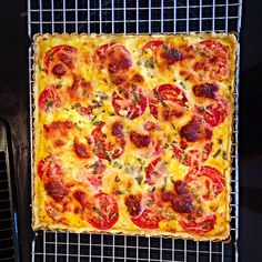 Rhonda's Tomato, Corn and Cheese Tart