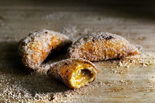 Deep fried apple and persimmon pies