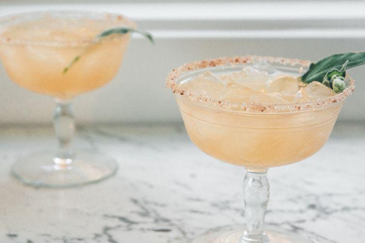 Grapefruit-Sage Margaritas