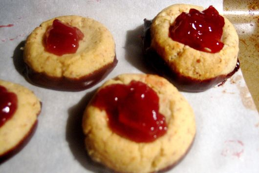 Chocolate Cherry Thumbprints