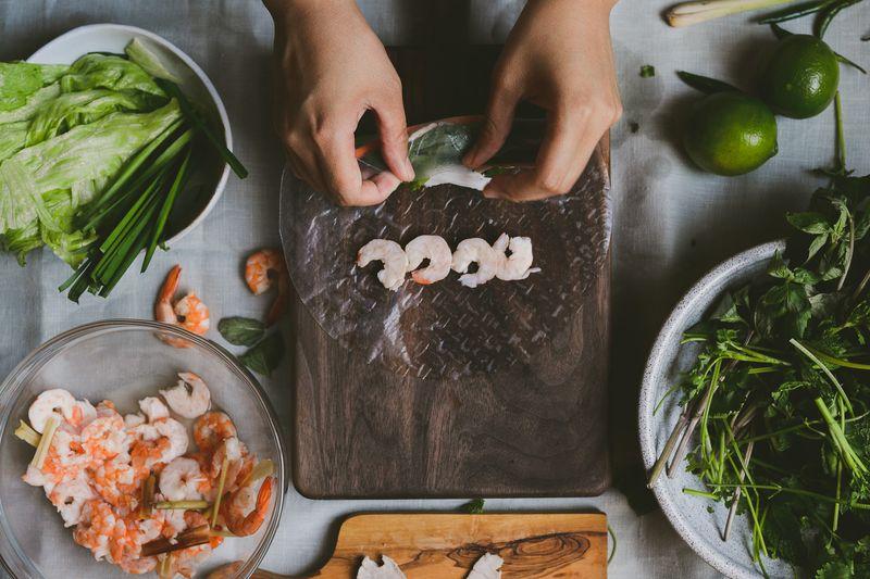Vietnamese Pork and Shrimp Spring Rolls (Gỏi Cuốn)