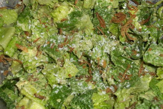 """Cesar"" salad with avocado coconut dressing"