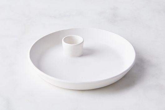Porcelain Pebble Candleholders