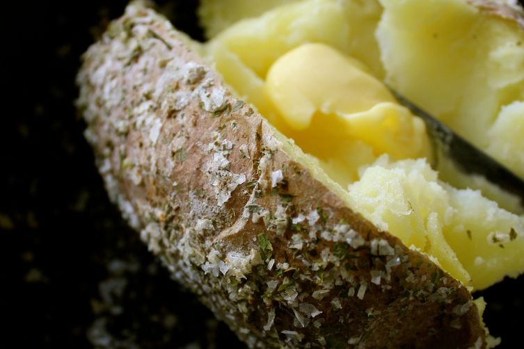 Homemade Celery Salt-Crusted Baked Potatoes