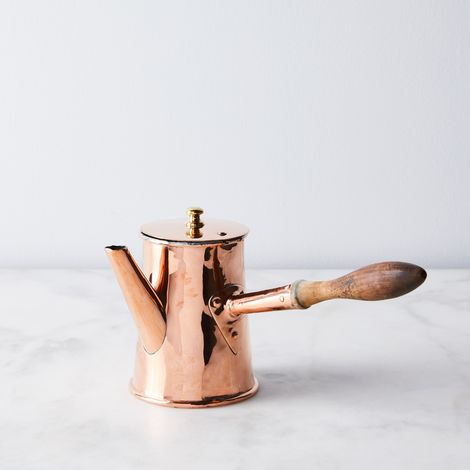 Vintage Copper French Chocolate Pot, Mid 19th Century