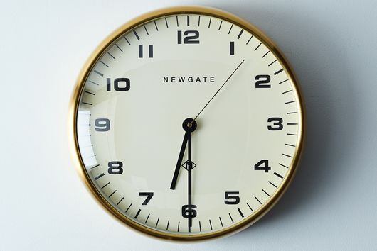 Chrysler Brass Wall Clock