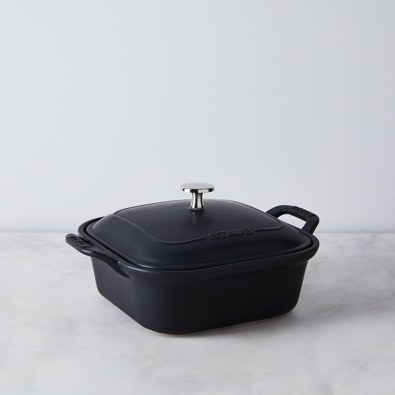 staub matte ceramic covered baking dish on food52