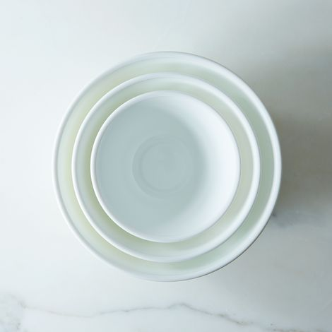 Milk Glass 3-Piece Mixing Bowl Set