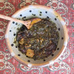 Spinach & Plum (Prune) Persian Stew