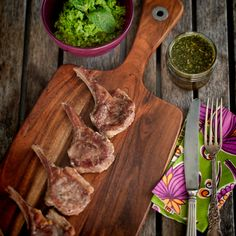 Lamb Cutlets with Smashed Peas and Mint Sauce
