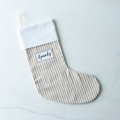Personalized Ticking Stripe Stocking