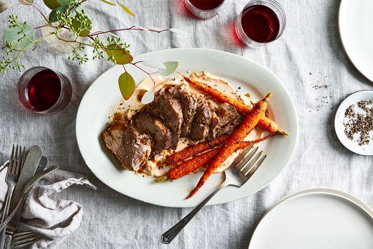 Slow-Cooker Pork Shoulder With Brown Sugar & Balsamic Glaze