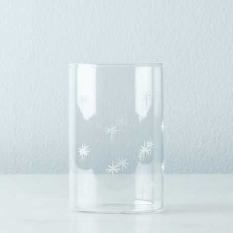 Etched Star Glass Tumblers (Set of 6)