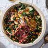 Kale Salad with Salami, Pecorino, and Walnuts