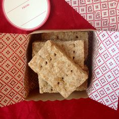 Cinnamon and Rye Shortbread