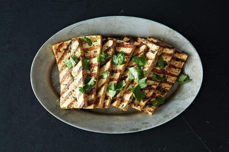 Grilled Peanut Tofu from Food52