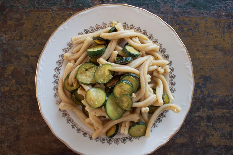 Zucchini and Miso Whole wheat pasta