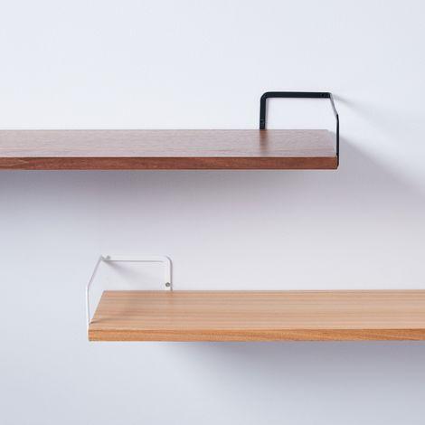 Steel & Wood Wall-Mounted Shelf