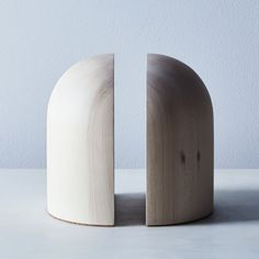Handturned Arched Maple Book Ends