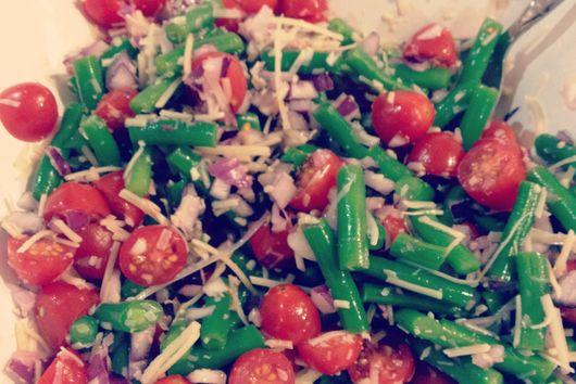Ume Plum and Parmesan Green Bean Salad