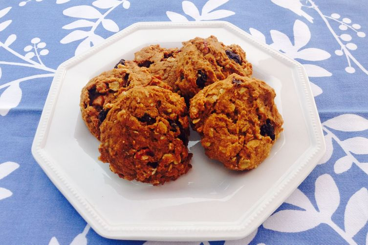 Vegan Cherry Pumpkin Pecan Cookies