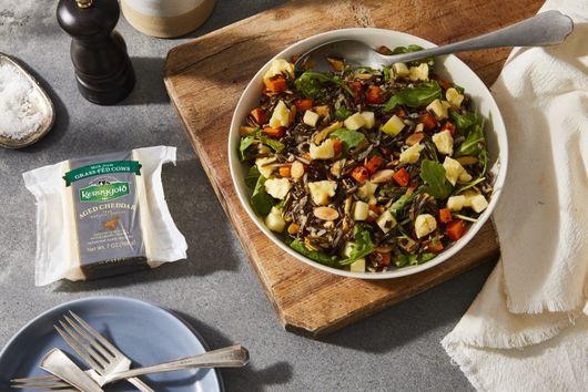 Wild Rice Salad With Sweet Potatoes, Arugula & Aged Cheddar