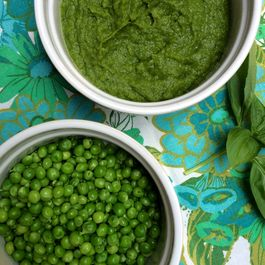 GREEN PEA AND BASIL RISOTTO