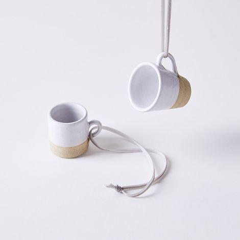 Handmade Stoneware Mug Ornaments