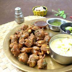 Buckwheat and potato fritters